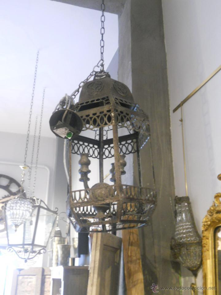 Segunda Mano: FAROL O LAMPARA DE METAL ENVEJECIDO - Foto 7 - 53968580