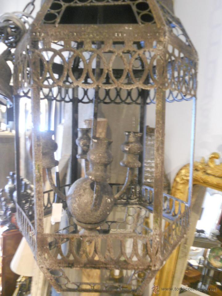 Segunda Mano: FAROL O LAMPARA DE METAL ENVEJECIDO - Foto 8 - 53968580