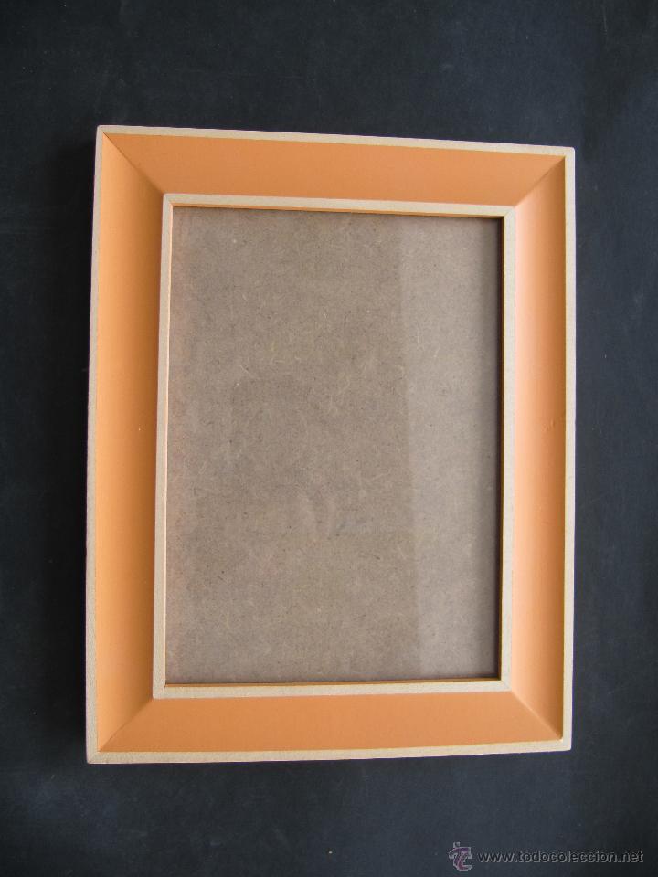 portafotos madera color naranja. cristal: 12 x - Comprar en ...