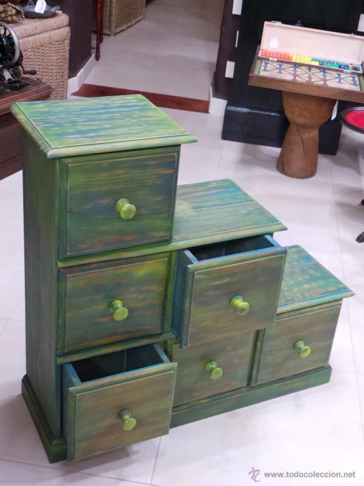 Mueble escalera con cajones pintado aceptamos comprar - Mueble vintage segunda mano ...