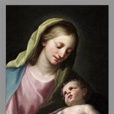 Segunda Mano: PRECIOSO AZULEJO 20X30 DE LA VIRGEN CON EL NIÑO JESÚS. Lote 54654994