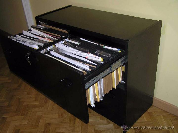 Mueble archivador fichero de madera lacado en n comprar - Mueble segunda mano valencia ...