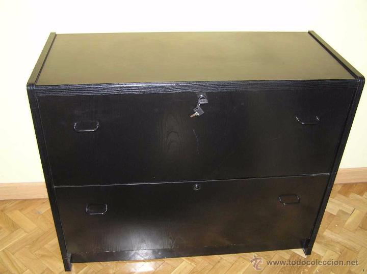 Mueble archivador fichero de madera lacado en n comprar for Mueble fichero