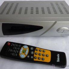 Segunda Mano: RECEPTOR CANALES TV SATELITE DVB MODELO SYSTEC Y CON MANDO A DISTANCIA Y CON CONEXION RS. Lote 54801232