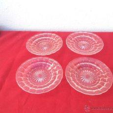 Segunda Mano - 4 pequeños platos de cristal rosa - 54844104