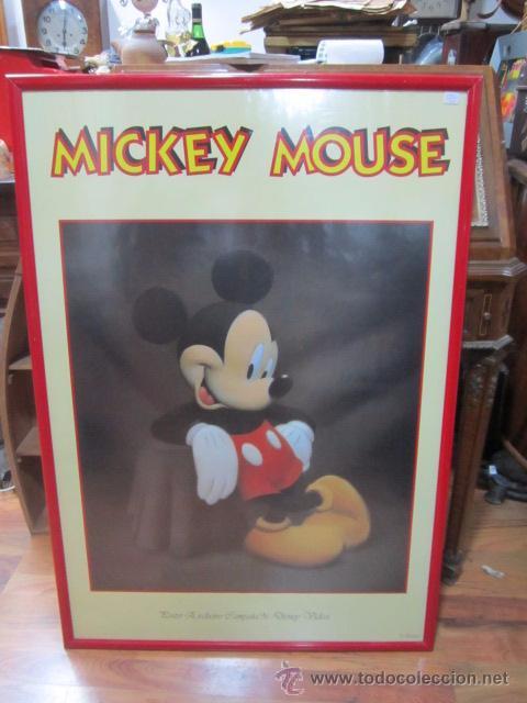 lámina de mickey mouse enmarcada. 67 x 98 cms. - Comprar artículos ...
