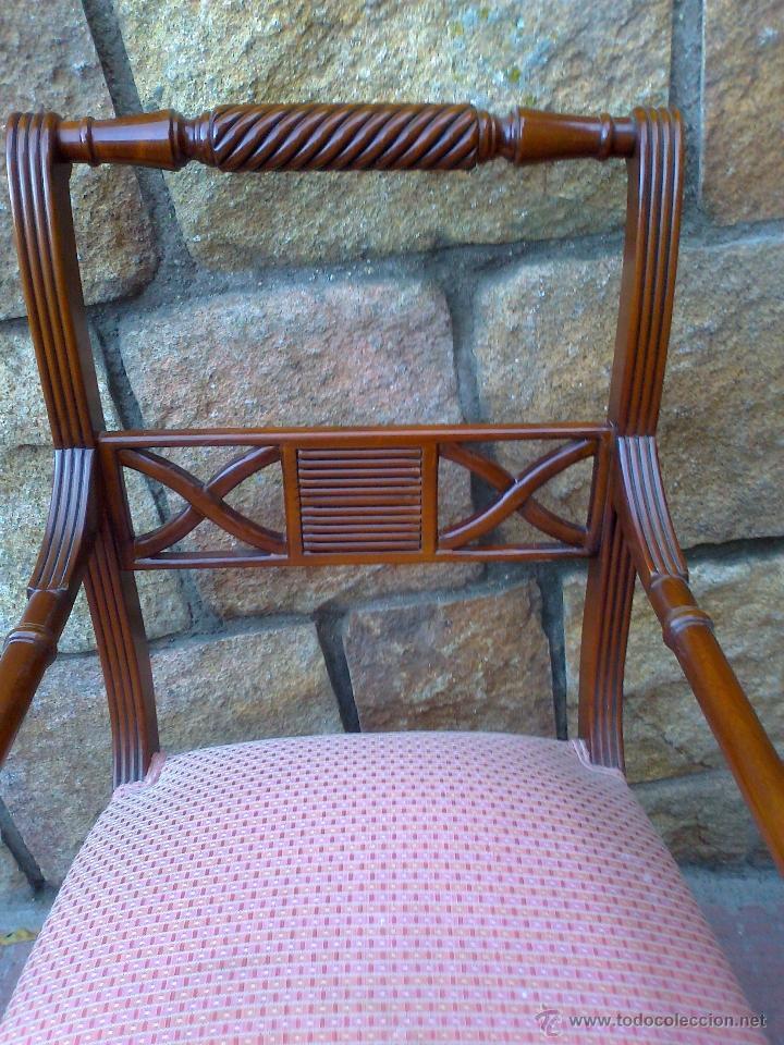 Conjunto de cuatro sillas y dos sillones para c - Vendido en ...