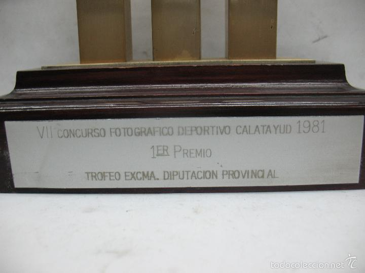 Segunda Mano: Trofeo VII CONCURSO FOTOGRÁFICO DEPORTIVO CALATAYUD 1981 PRIMER PREMIO - Foto 8 - 55531166