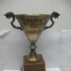 Segunda Mano: TROFEO MARCA TROFEO NADADOR COMPLETO 76 - 77. Lote 55532623