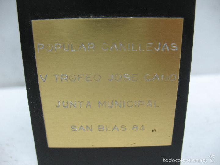 Segunda Mano: Trofeo POPULAR CANILLEJAS V TROFEO JOSE CANO JUNTA MUNICIPAL SAN BLAS 84 - Foto 6 - 55533439
