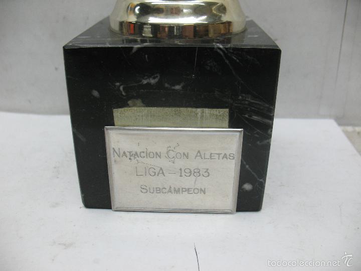 Segunda Mano: Trofeo NATACIÓN CON ALETAS LIGA 1983 SUBCAMPEON - Foto 4 - 55542641