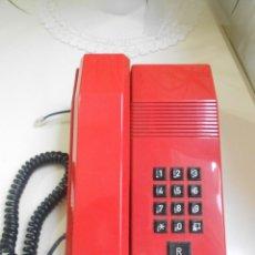 Segunda Mano: TELEFONO RETRO ROJO MODELO TEIDE AMPER ESPAÑA AÑOS 80-90. Lote 56170161