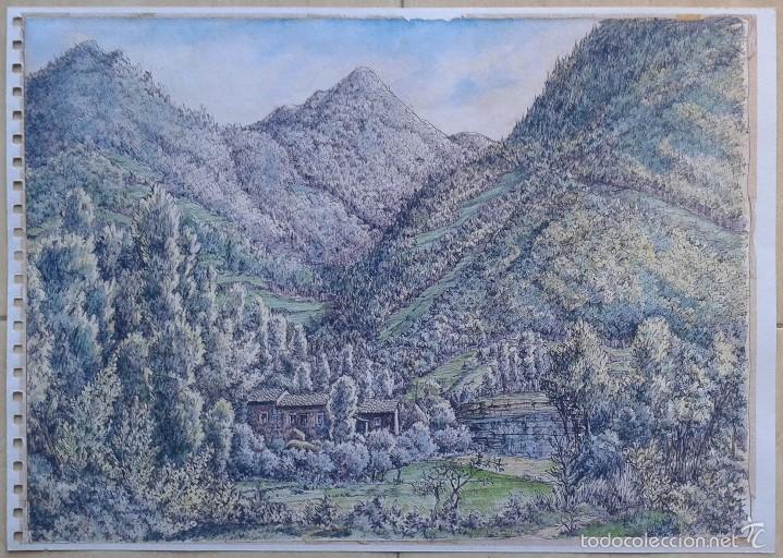 VICTOR DE LA GUARDIA (BARCELONA, 1920-1993) - LAMINA CAN VIOLÍ A DOS CARAS 42 X 30 (Segunda Mano - Hogar y decoración)