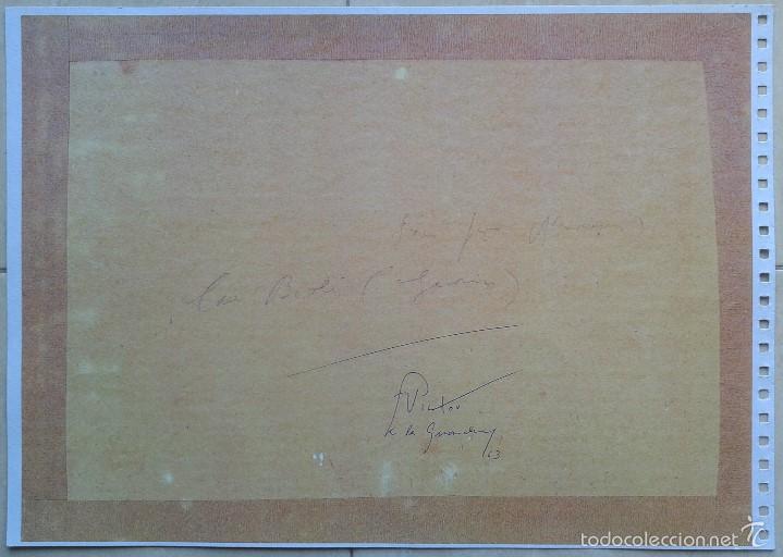 Segunda Mano: VICTOR DE LA GUARDIA (BARCELONA, 1920-1993) - LAMINA CAN VIOLÍ A DOS CARAS 42 X 30 - Foto 3 - 56171445