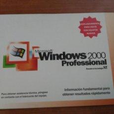Segunda Mano: WINDOWS 2000 PROFESIONAL TUTORIAL INSTALACCION 34 PAGINAS ACOMPAÑABA AL SISTEMA OPERATIVO. Lote 56281820
