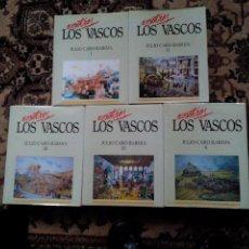 Segunda Mano: CINCO TOMOS DE JULIO CARO BAROJA LOS VASCOS. Lote 56308336