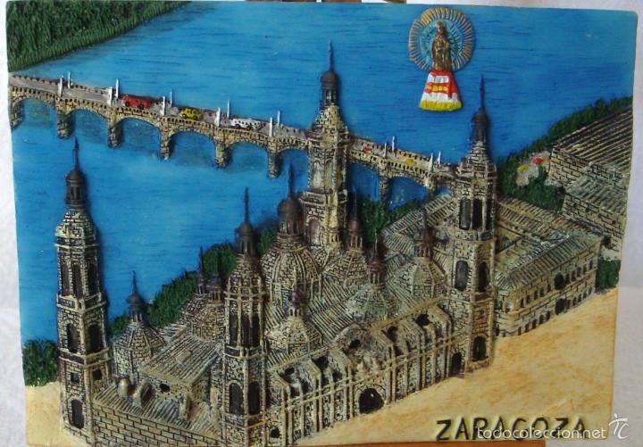 Peque o cuadro en resina zaragoza el pilar en r comprar for Decoracion hogar zaragoza