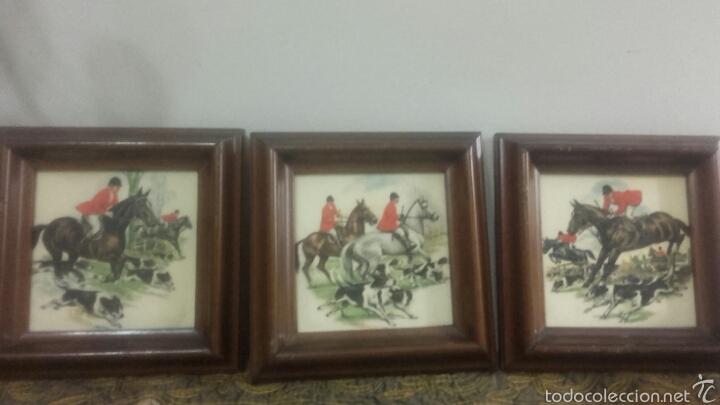 azulejos enmarcados con motivo de caza del zorr - Comprar artículos ...