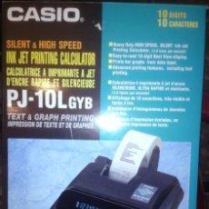 Segunda Mano: CALCULADORA IMPRESORA CASIO PJ-10L GYB SIN USO. Lote 56934861