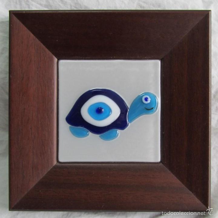 cuadro de tortuga en vidrio cristal enmarcado e - Comprar artículos ...