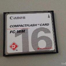 Segunda Mano: TARJETA MEMORIA COMPACT FLASH . CANON FC-16M .16 MB. Lote 147659204