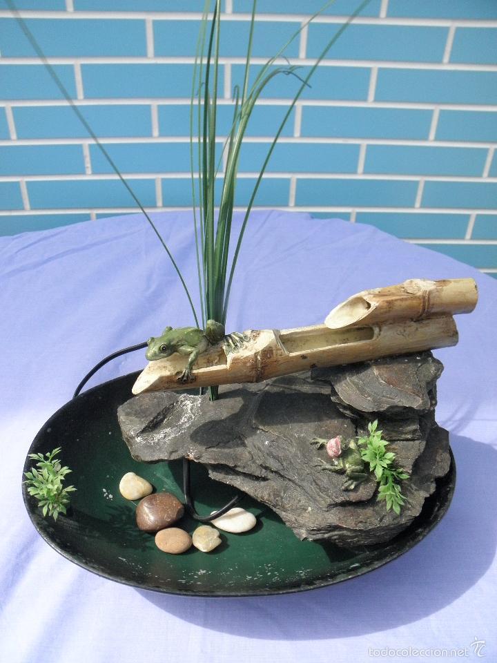 fuente de agua decorativa con ranas de 34 cm segunda mano hogar y - Fuentes De Agua Decorativas