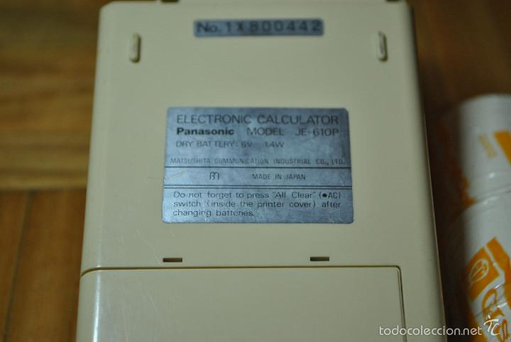 Segunda Mano: Calculadora PANASONIC JE-610P CON IMPRESORA - Foto 4 - 57681438