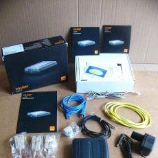 Segunda Mano: KIT ROUTER MODEM ADSL SPEEDTOUCH ST530 ST 530 V6 ORANGE - COMPLETO - SIN USAR. Lote 57812339