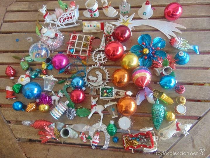 antiguos adornos decoracion de arbol de navidad