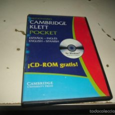 Segunda Mano: PC CD-ROM DICCIONARIO CAMBRIDGE KLETT POCKET . Lote 57926597