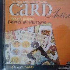 Segunda Mano: CDROM CARD ARTIST HAZ TUS PROPIAS TARJETAS DE FELICITACION - PROGRAMA ORDENADOR. Lote 57929546