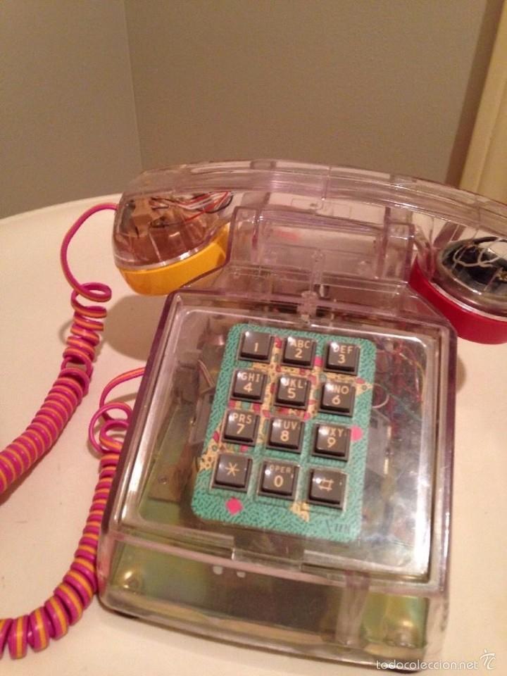 Telefono sobremesa a os 80 plastico transparent comprar - Sobremesa segunda mano ...