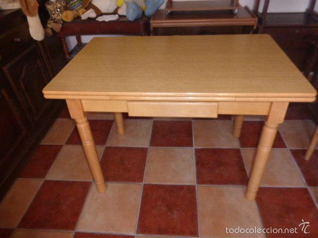 mesa de cocina extensible de madera en color pi - Comprar artículos ...