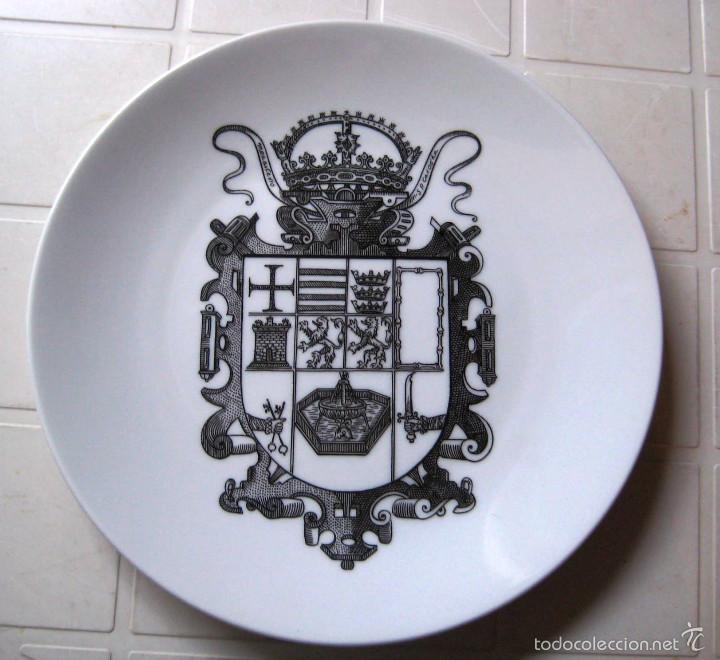 PLATO CERÁMICA MONASTERIO DE S. PEDRO DE CARDEÑA- (Segunda Mano - Hogar y decoración)