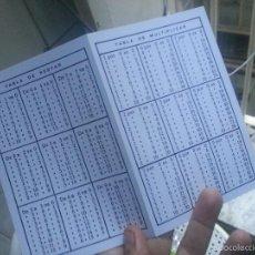Segunda Mano: TABLA DE SUMAR RESTAR DIVIDIR Y MULTIPLICAR SIN USO , DE COLEGIO. Lote 58268546