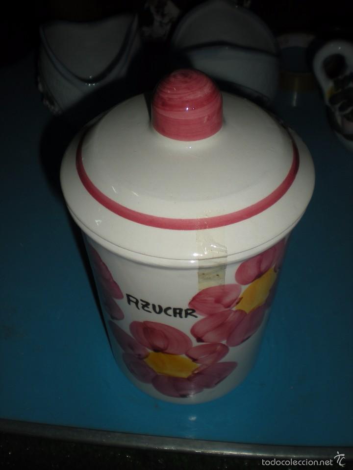 Segunda Mano: Tarro cerámica para azucar pintado a mano - Foto 2 - 58418926