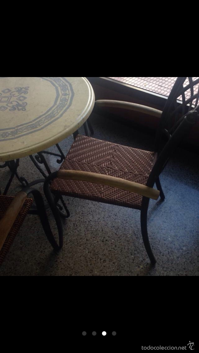 Mesas terraza segunda mano wood de industrial plazas y for Mesa y sillas jardin segunda mano madrid