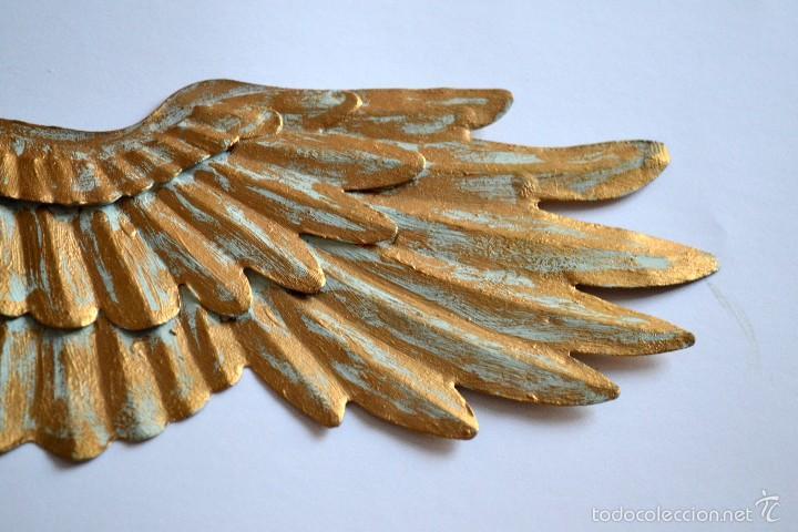 Segunda Mano: Preciosa Ala de metal dorado ideal para decoración - Foto 2 - 58514117