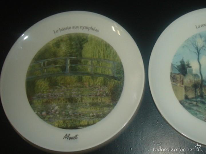 Segunda Mano: 2 platos de porcelana italiana de Tognana con cuadros de Monet y Pissarro - Foto 2 - 58531875