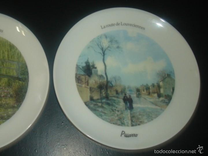 Segunda Mano: 2 platos de porcelana italiana de Tognana con cuadros de Monet y Pissarro - Foto 3 - 58531875