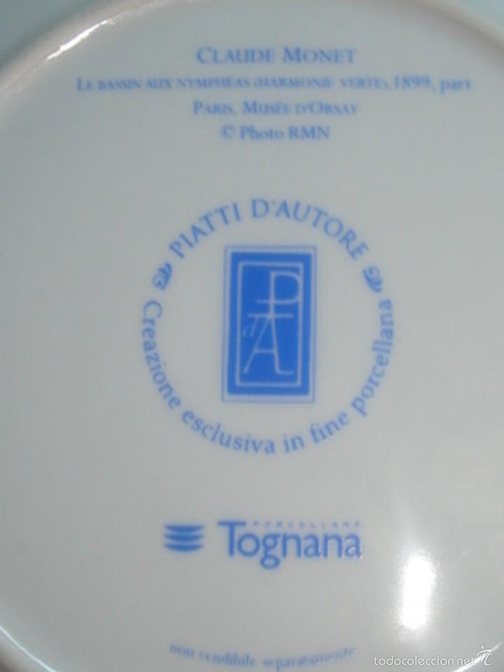 Segunda Mano: 2 platos de porcelana italiana de Tognana con cuadros de Monet y Pissarro - Foto 5 - 58531875