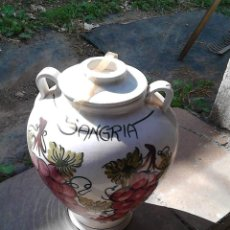 Segunda Mano: JARRON SANGRIA CERAMICA. Lote 58559851