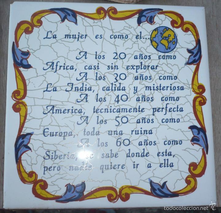 El Armario Que Plancha ~ 3 azulejos con frases + diploma artesanal vinta Comprar artículos de segunda mano de hogar y