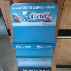 Segunda Mano: EXPOSITOR CHICLES ORBIT, DE CARTÓN.. Lote 208317735