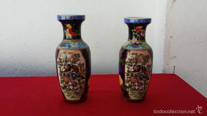 2 JARRONES ORIENTAL (Segunda Mano - Hogar y decoración)