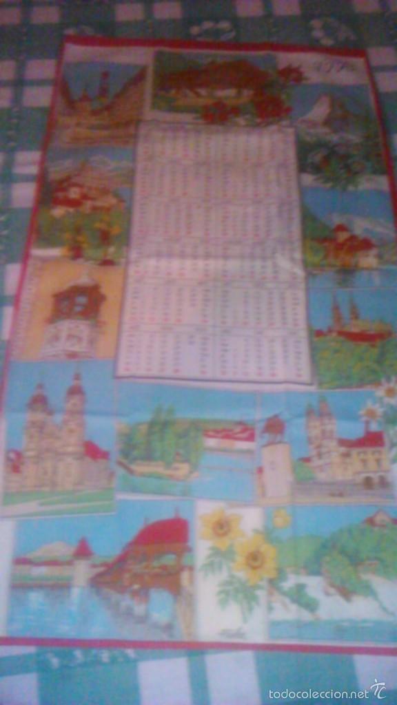 Segunda Mano: Precioso calendario en tejido con paisajes suizos ,1993. fisba. ideal para enmarcar. - Foto 2 - 59476464