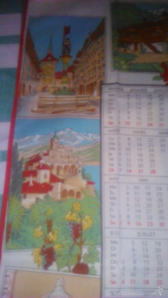 Segunda Mano: Precioso calendario en tejido con paisajes suizos ,1993. fisba. ideal para enmarcar. - Foto 3 - 59476464