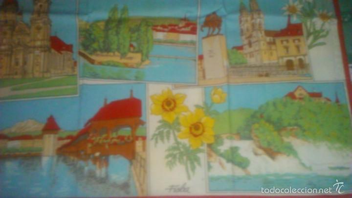 Segunda Mano: Precioso calendario en tejido con paisajes suizos ,1993. fisba. ideal para enmarcar. - Foto 4 - 59476464