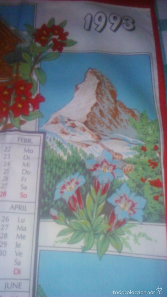 Segunda Mano: Precioso calendario en tejido con paisajes suizos ,1993. fisba. ideal para enmarcar. - Foto 5 - 59476464