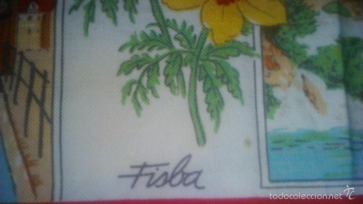 Segunda Mano: Precioso calendario en tejido con paisajes suizos ,1993. fisba. ideal para enmarcar. - Foto 6 - 59476464